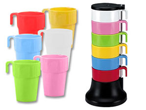 6-Piece Rainbow Cup Set